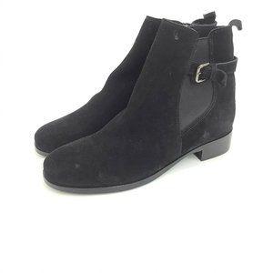 La Canadienne Black Size 9M Suede Ankle Boots